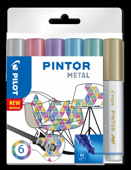 Lakmarker Pintor metal set van 6 Medium-0