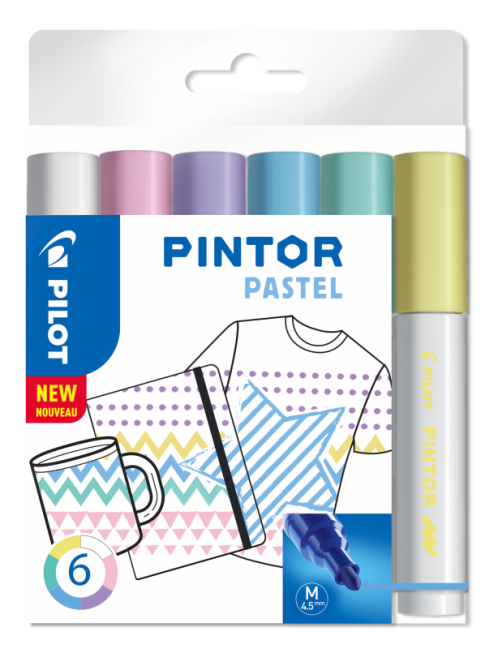 Lakmarker Pintor pastel set van 6 Medium-0
